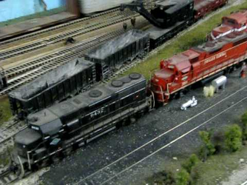 TP&W KB&S HO SCALE MODEL RAILROAD LAYOUT ILLINOIS PRAIRIE LINES