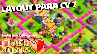 🔴 LAYOUT PARA CENTRO DE VILA 7 ! Iniciando no Clash of Clans Ep.16