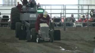 Garden Tractor Pull Lincoln Nebraska 11/21/2009, Double Trouble Twin engine tractor