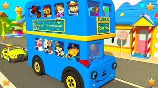Blue Wheels On The Bus | 3D Kindergarten Nursery Rhyme Song | Baby Songs by Little Treehouse