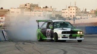 Drift Racing in Jordan - Red Bull Car Park Drift 2013