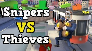 ROBBING A BANK!!!|Snipers Vs Thieves #1