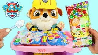 Paw Patrol Pup Baby Rubble Makes Kracie Popin DIY Japanese Candy Making Kits!