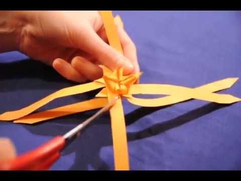 Lubię Tworzyć Gwiazdka Froebla jako kokarda prezentowa