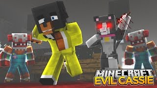 Minecraft EVIL DATE - CASSIE TURNS PSYCHO ON DONUT - donut the dog minecraft roleplay