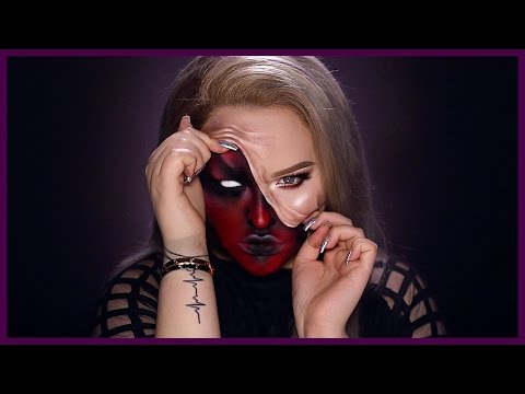 Xxx Mp4 DEMON Pulled Up Skin Halloween Makeup Tutorial 3gp Sex