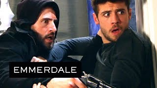 Emmerdale - Ross and Joe Fight Until the Gun Goes Off