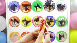 Movie Wheel Game versus Paw Patrol  Surprise Toys and Mashems