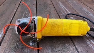 How To Make Grass Trimmer With Angle Grinder | Grass Cutter At Home