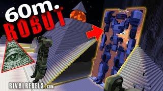 Giant OP Robot mod Vs Illuminati city map #5