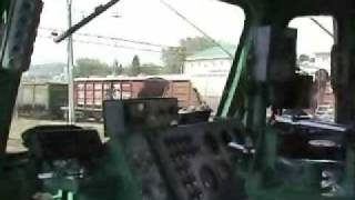 American Inside Russian Train Locomotive