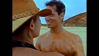 naked model in the desert
