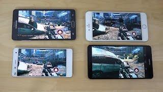 Samsung Galaxy Note 4 vs. Xiaomi Mi4 vs. Ascend Mate 7 vs. iPhone 6 Plus NOVA 3 Gameplay Review