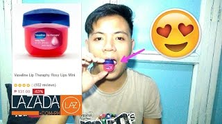 Vaseline Lip Theraphy Rosy Lips Mini Unboxing Review Lazada