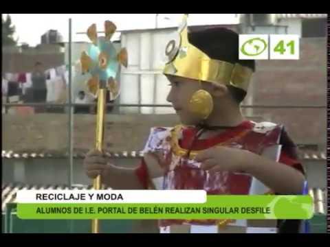Desfile de trajes típico hechos de material reciclable Trujillo