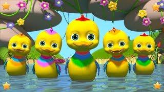 Five Little Ducks | Nursery Rhymes and Baby Songs | Kindergarten Cartoons | Little Treehouse