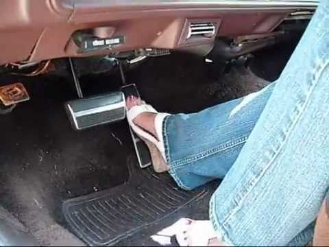 Pedal pumping in the flooded Oldsmobile