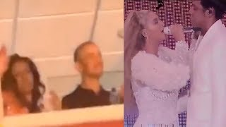 Barack and Michelle Obama dancing at Beyonce and Jay-Z