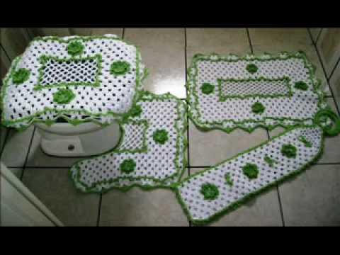 Tapetes de crochê em vários modelos Tapetes & Cia