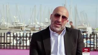 """مخرج الكوميديا السوداء """"تشويش"""" أحمد غصين في لقاء مع لسينما بديلة في  مهرجان كان."""
