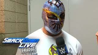 Sin Cara reacts to his upset win over Baron Corbin: SmackDown LIVE Fallout, Oct. 17, 2017