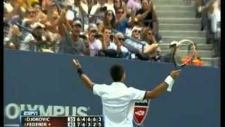 Us Open 2011 -- Novak Djokovic saves Match Point vs Roger Federer