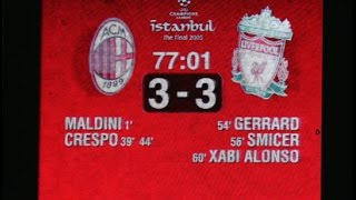 Champions League final 2005 - AC Milan 3 : 3 Liverpool