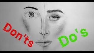 Realistic Portrait Drawing: Do's & Don'ts