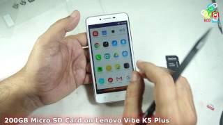 200GB Micro SD Card on Lenovo Vibe K5 Plus