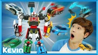 캐빈의 애슬론 또봇 마그마6 로봇 장난감 6단 합체 놀이 l 캐리 앤 플레이