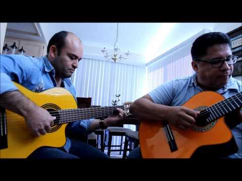 Edgar Devia y Alvaro David Gomez ensayando un vals clasico.