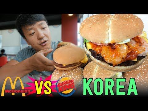 KOREAN McDonald s VS. Burger King in Seoul South Korea