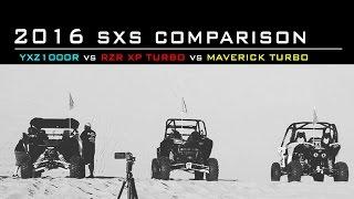 2016 SXS Comparison | YXZ1000R vs RZR XP Turbo vs Maverick Turbo