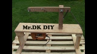 MAKING A HOMEMADE SCROLL SAW MACHINE / DIY 2018