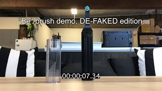 "How the ""Be."" battery-free toothbrush faked a demonstration video"