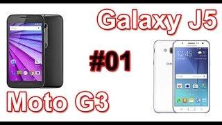 Samsung Galaxy J5 e Moto G 3º Ger (2015) - Análise e especificações