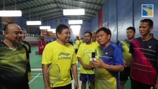 Pertandingan Persahabatan Badminton Antara PB BP Batam dengan PB Adiyaksa RI