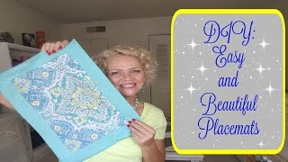 DIY: Easy and Beautiful Placemats