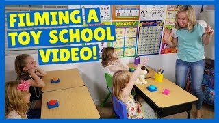 Behind the Scenes of a Toy School Filming !!!
