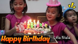 Selamat ulang tahun Niala ke 6 - Happy Birthday Niala 6th Surprise Cake Birthday @lifiatubehd