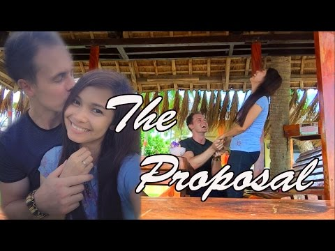 Australian proposes to his Filipina girlfriend! #Dwanta