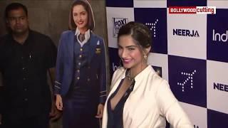 Sonam Kapoor Aaccidential Boobs Show at Neerja special Screening