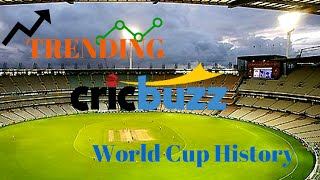 Trending Cricbuzz on World cup history