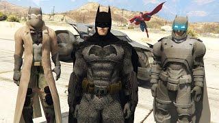 "GTA 5 Mods - ULTIMATE ""BATMAN vs SUPERMAN"" BATMAN COSTUMES MOD!! (GTA 5 Mods Gameplay)"