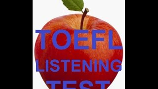 Toefl test 1. 5  answer key subtitles