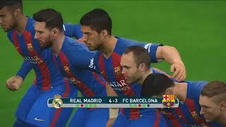 ركلات الترجيح | برشلونة ضد الريال مدريد || الكلاسيكو || كأس السوبر الإسباني النهائي | pes 2017