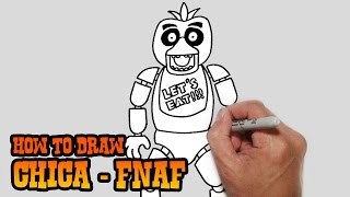 How to Draw Chica- Five Nights at Freddy's- Video Lesson