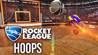 ROCKET LEAGUE BASKETBALL - Rocket League Hoops Gameplay - SO MUCH FUN