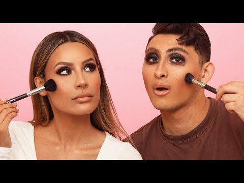 BROTHER FOLLOWS MY MAKEUP ROUTINE | DESI PERKINS