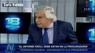 Fernando Olivera pide nuevas elecciones generales y la salida del Congreso espurio fujimorista